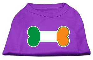 Bone Flag Ireland Screen Print Shirt Purple XS (8)